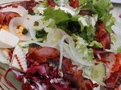 Gemischter Salat Bacon, Feta Joghurt Dressing