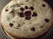 Torta bicolore variegata alla nutella