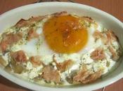 Uovo d'oca funghi forno