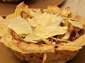 Cestini pane carasau insalata carciofi, parmigiano miele