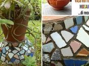 Recupero vaso rotto terracotta mosaico recupero; tutorial fotografico passo