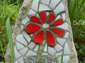 """Fiore mosaico pietra, 100% piatti rotti """"INIZIATIVE CORSO"""""""