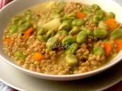 Zuppa grano saraceno, farro fave