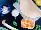 Torta salata sfoglia porri, ricotta basilico