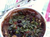 Porridge croccante frutta fresca semi