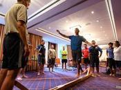 Yoga aiuto degli arbitri olimpici
