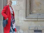 Parigi fashion week cappotto rosso