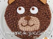 Torta orsetto tutorial: faccia dell'orso realizzata poche