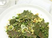 Pasta lenticchie crema spinaci allo zenzero frutta secca