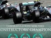 Formula Mercedes Campione Mondo costruttori anno 2016.
