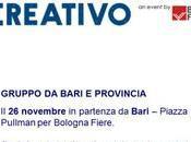 mondo Creativo pullman partenza Bari sabato Novembre 2016