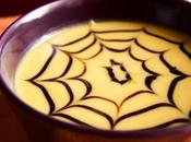 Zuppa halloween zucca, carote ragnatela balsamico