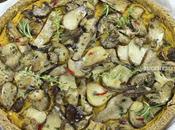 Crostata vegan zucca funghi