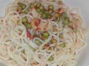 Zuppa noodles seppia piselli