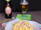 Tortiglioni alla birra Peroni Senza Glutine, panna pancetta