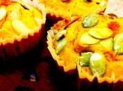 Muffin alla zucca cuore filante