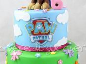 Torta decorata piani Patrol Chase pasta zucchero compleanno bimba