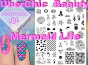 Mermaid Life Stamping Plate from UberChic Beauty Swatches Review
