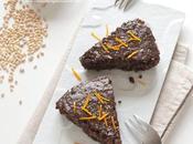 Torta d'orzo cioccolato, caffè arancia
