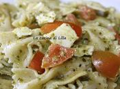 Primi: Insalata pasta pesto, mozzarella pomodoro