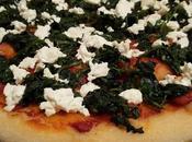 Pizza semola grano duro spinaci, quartirolo, pomodoro lievito madre