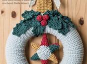 Stella Wreath: ghirlanda natalizia uncinetto [Crochet Christamas Wreath]