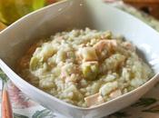Risotto finocchi, fave salmone Fennel, broad beans salmon risotto