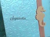 Partecipazioni matrimonio carta perlata cavallucci marini tema mare