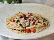 Spaghetti sardine crema fagioli, tutte scatolette