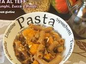 Pasta Teff zucca, funghi pinoli