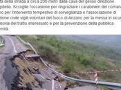 Foggia. Crolla parte della strada provinciale Anzano Puglia Scampitella