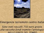 Donati alla Protezione Civile Emergenza Terremoto l'Antologia «Nelle Ferite Tempo», cura Lomasti Marcuccio