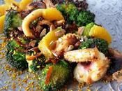 Ricci seppia broccoli all'arancia mandorle olive taggiasche