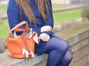 magico potere del…blu. abito maglia borsa bauletto