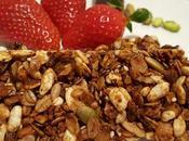 Granola fiocchi d'avena integrali, noci, pistacchi cioccolato fondente,al miele