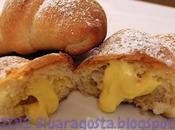 Croissant ripieni crema alla ricotta zafferano