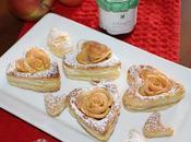 Cuori pasta sfoglia confettura ciliegie mela
