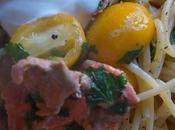 Spaghetti Salmone Kumquat