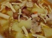 Zuppa patate fagioli borlotti