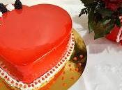 Torta cuore mousse cioccolato banane. (San Valentino)