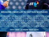 Nazioni: John Barclay capitano della Scozia contro Galles