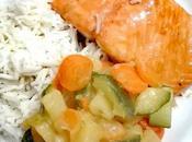 Salmone glassato forno