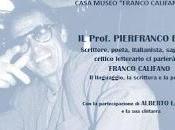"""Pierfranco Bruni celebra """"poesia"""" Califfo quarto anno dalla morte nella Casa Museo """"Franco Califano""""."""