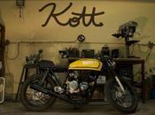Honda Yellow 400-Four Cafe Racer Kott