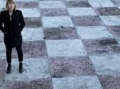 Black melancholy chess field