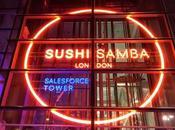 Cena giapponese Londra: Sushi Samba, guardando City dall'alto