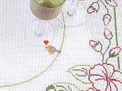 bellezza della semplicità fiori punto croce tovaglietta