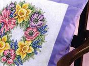 Raccolta grafici ghirlande fiori ricamare