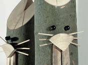 Coniglietti Pasqua tronchetti legno