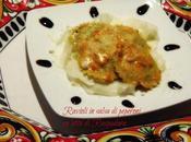 Ravioli salsa peperoni letto Raspadura